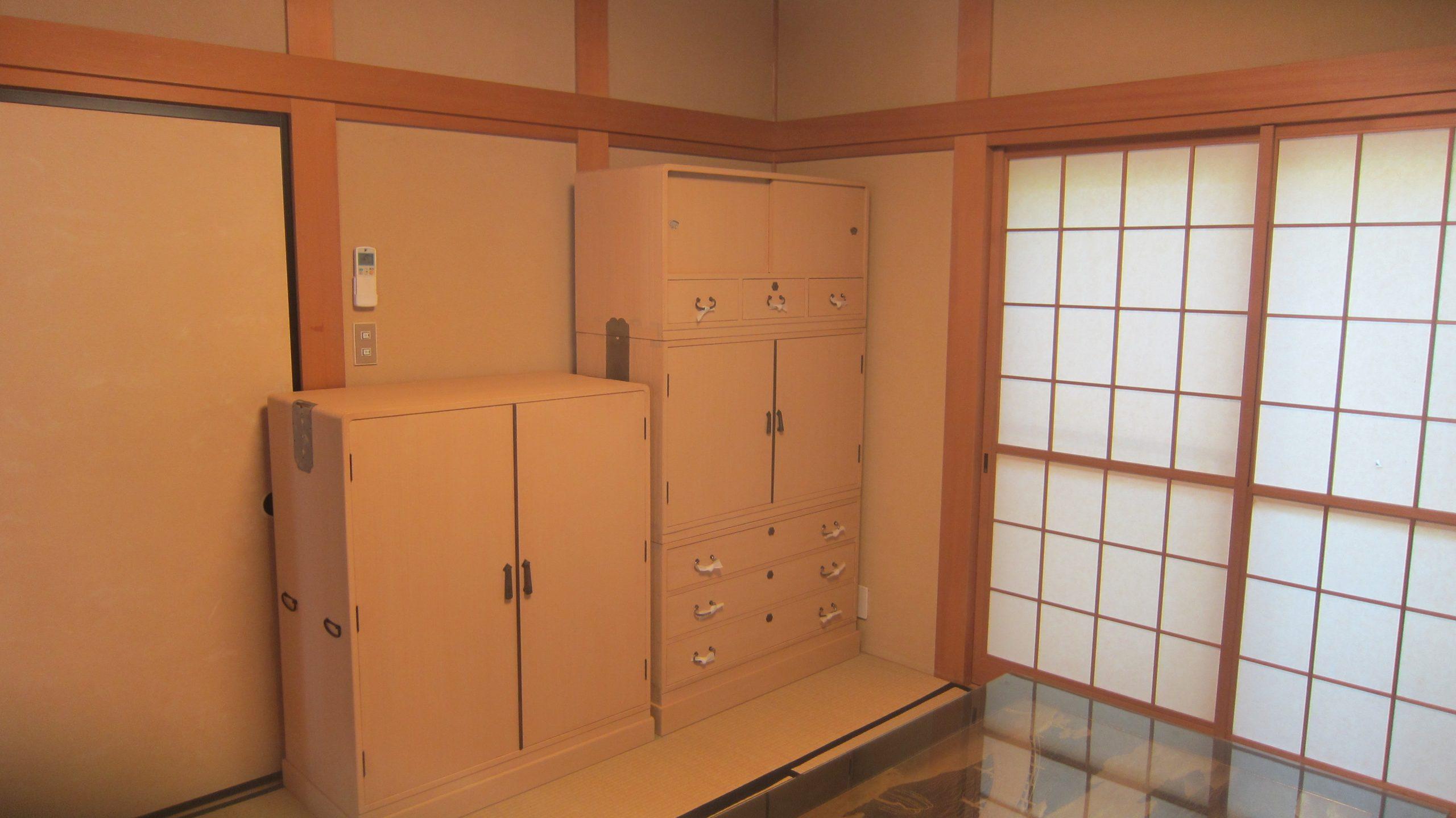 【桐タンス】古くなったタンスを洗い和室に設置